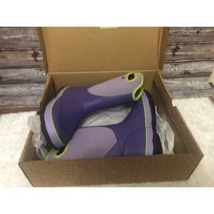 BOGS K Slushie Purple Rain Snow Boots Kids Size 4